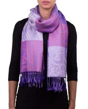 Etole viscose PASHMEE lilas femme