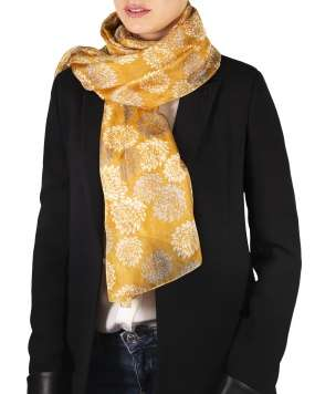 Foulard soie MAIA bloom curry femme