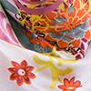 Carre de soie SATYA flower blanc femme